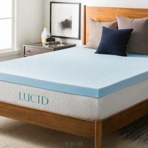 Lucid 3-inch Gel Memory Foam Mattress Topper – Best Mattress Topper to Keep You Cool
