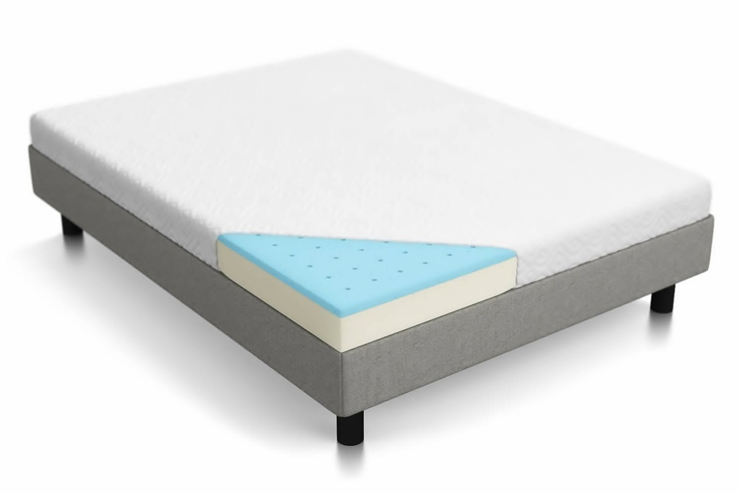 LUCID gel dual layered memory foam mattress