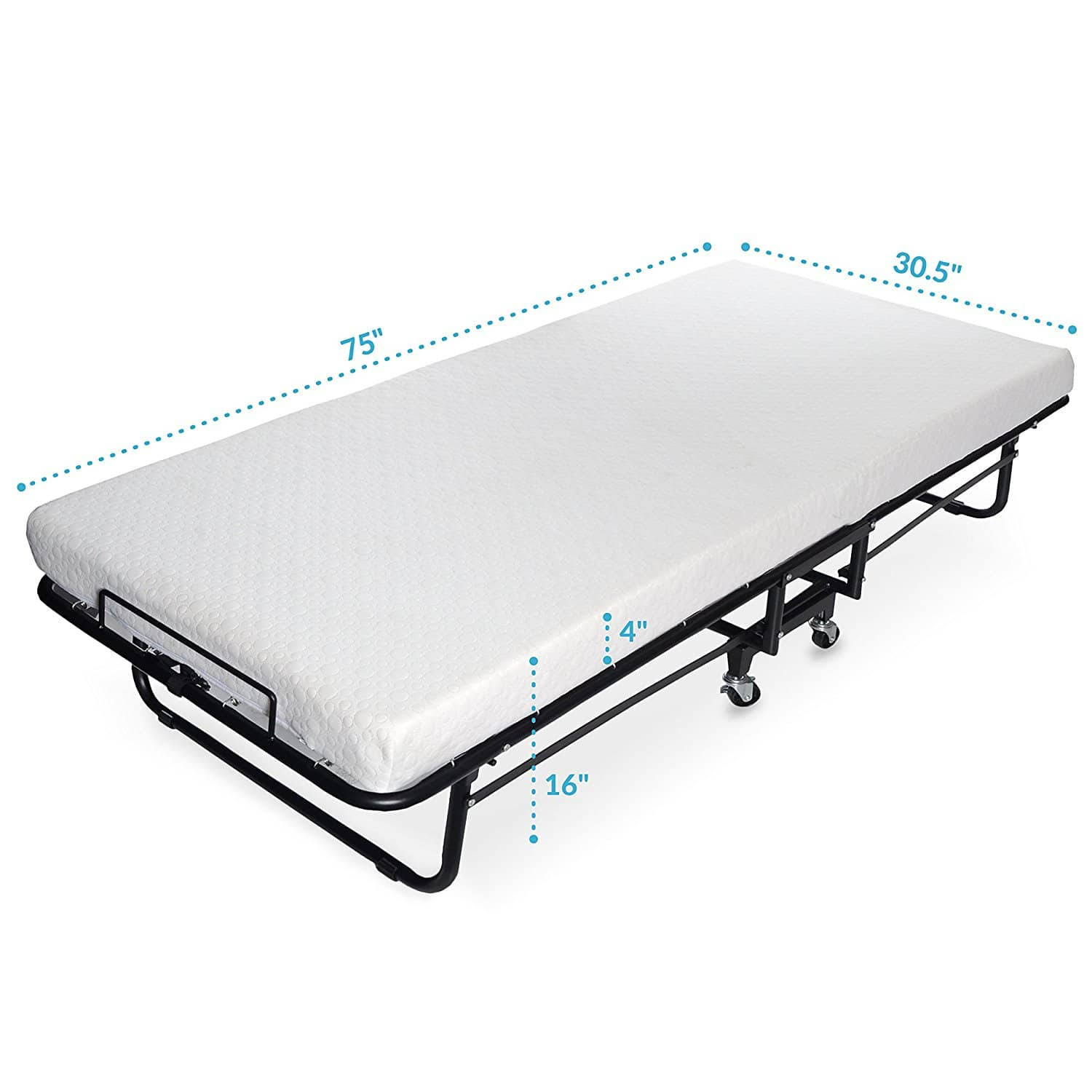 Milliard Premium Folding Bed with Luxurious Memory Foam Mattress