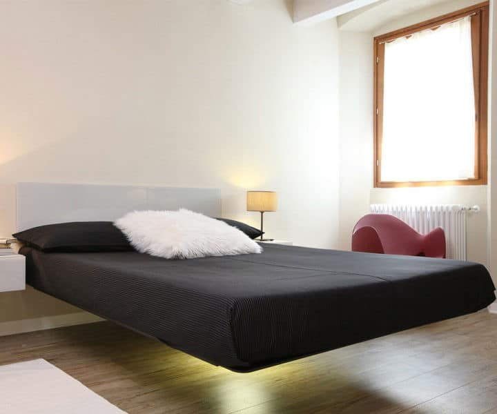 luxury expensive mattress and floating bed