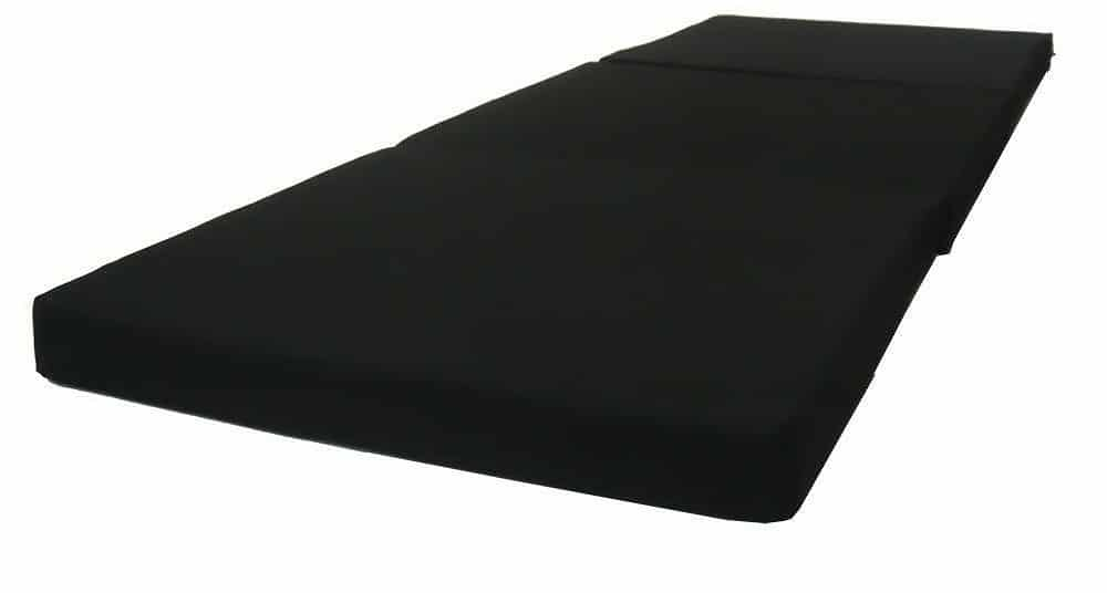 D&D Futon Furniture Black Tri Fold Foam mattress