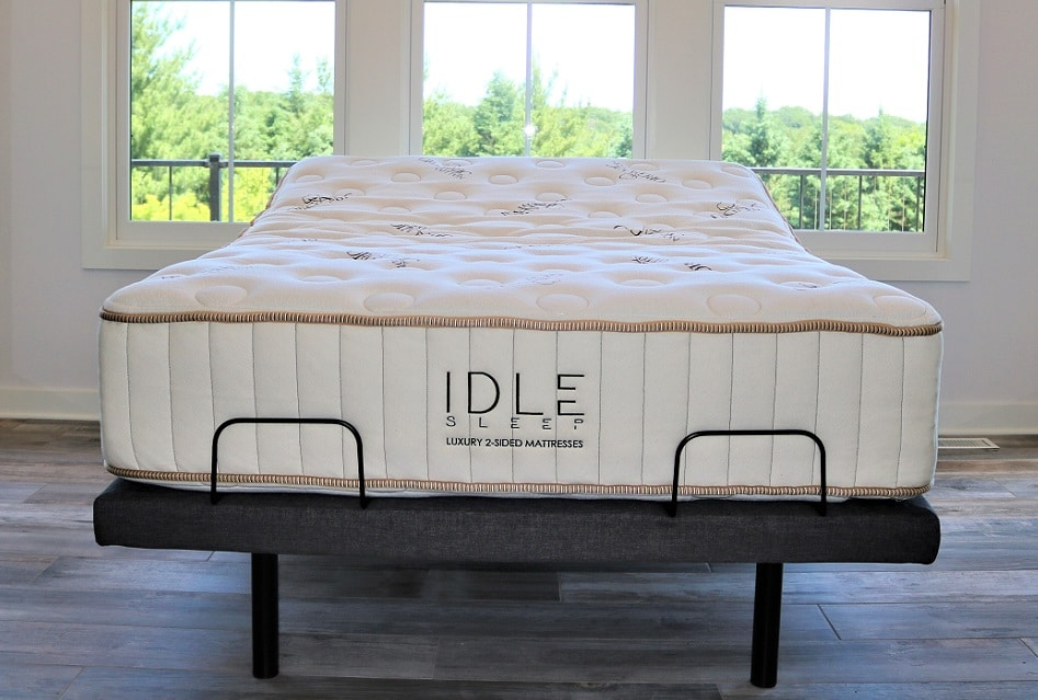 Idle Sleep hybrid construction flippable mattress