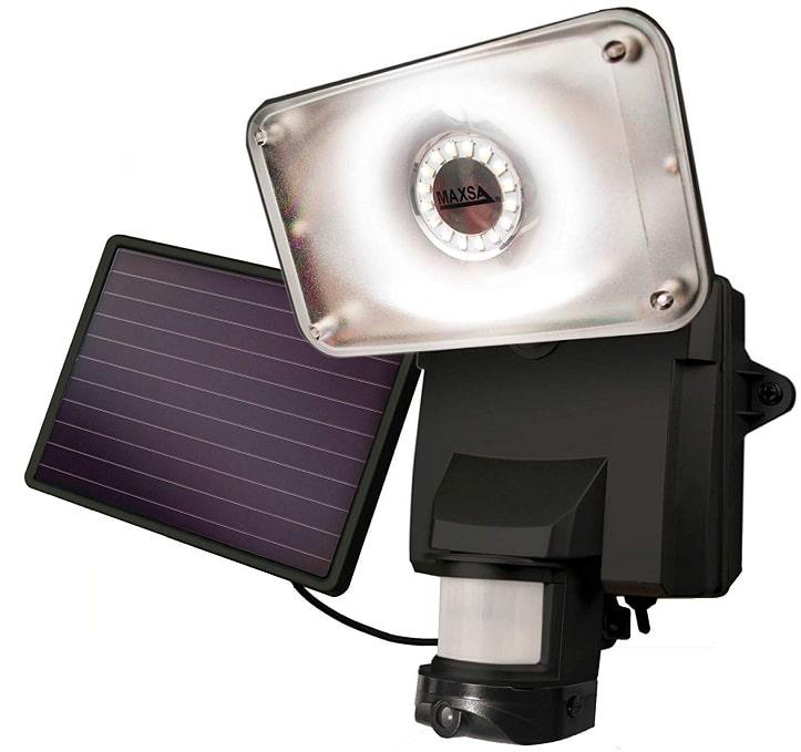 MAXSA solar powered wireless outdoor security camera
