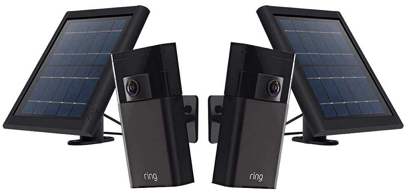 Ring Stick up Cam and solar panel bundle
