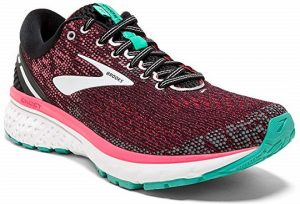 Brooks Womens Ghost 11 BlackPinkAqya