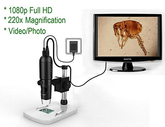 Mustcam 1080P Full HD Digital Microscope