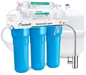 Ecosoft 5 Stage Reverse Osmosis Water Filtration System - Under Sink Water Purifier and Softener for Kitchen Faucet with Extra Filter Cartridge