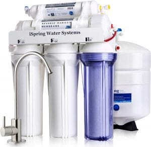 Spring RCC7 High Capacity Under Sink 5-Stage Reverse Osmosis Drinking Water Filtration System and Ultimate Water Softener
