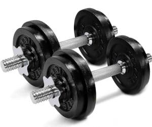 Yes4All Durable Body Workouts Adjustable Dumbbells