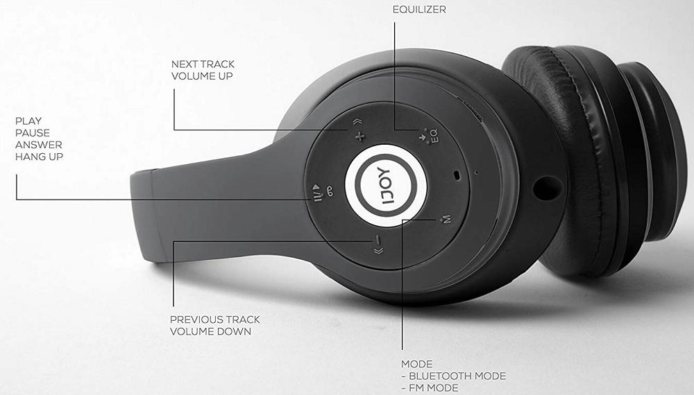 iJoy Matte Finish Premium Rechargeable Wireless Bluetooth Headphones