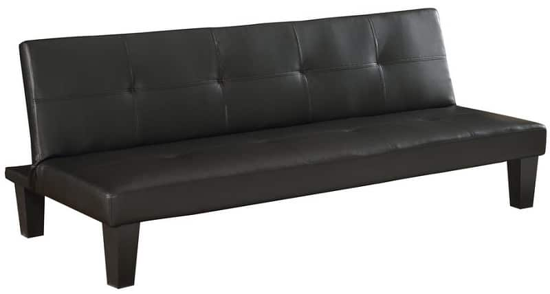 Homegear Modern Faux Leather Futon
