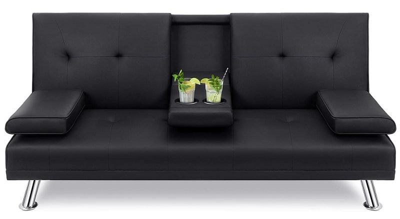 Walsunny Modern Faux Leather Couch
