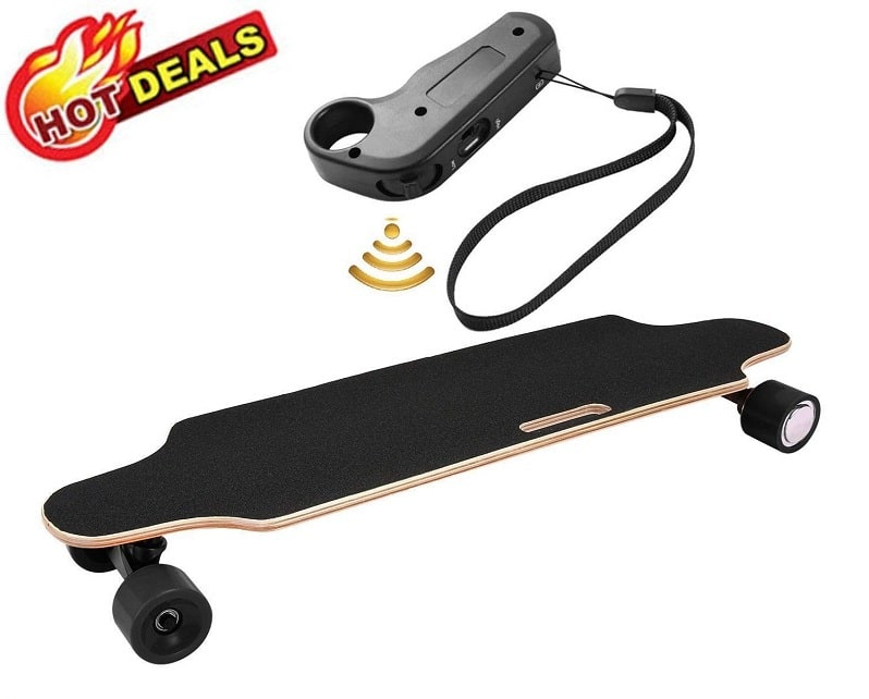 "Aceshin 35.4"" electric skateboard with remote control"