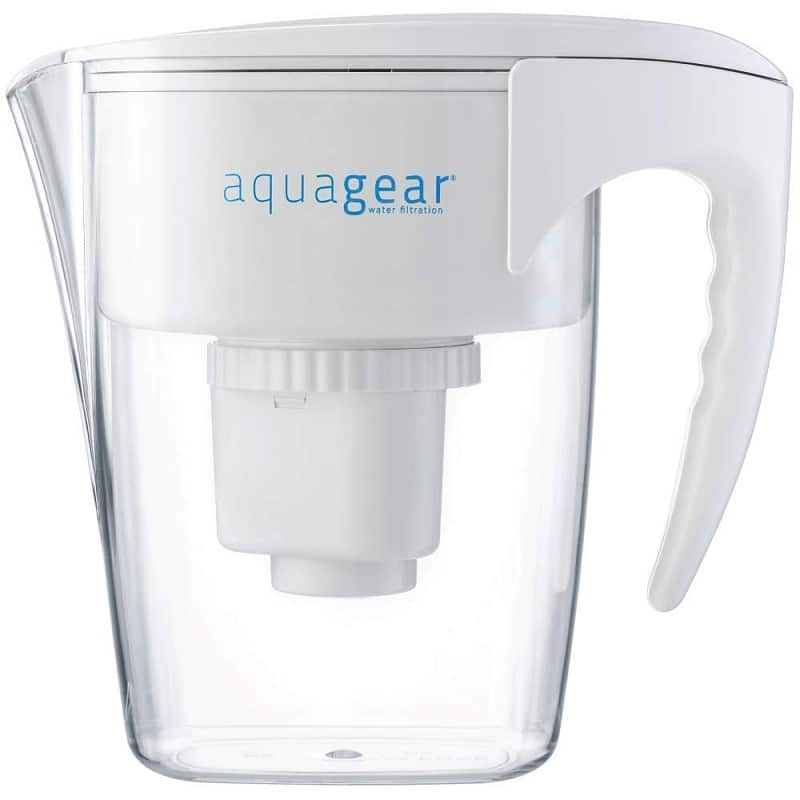 Aquagear water filter pitcher for lead removal