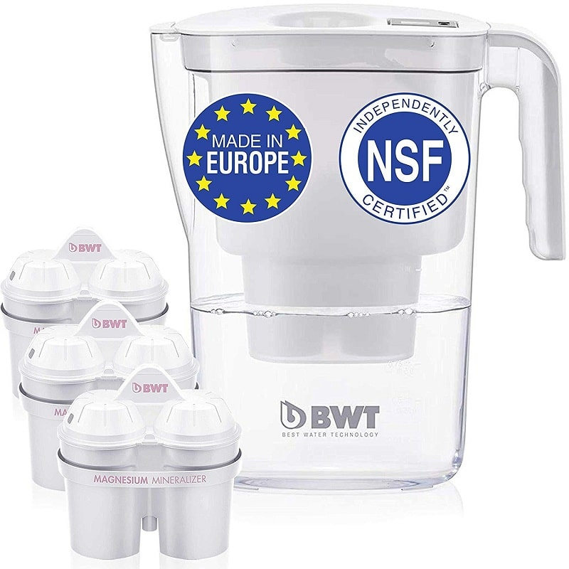 BWT Vida water filter pitcher with 3 bonus 60-day filters
