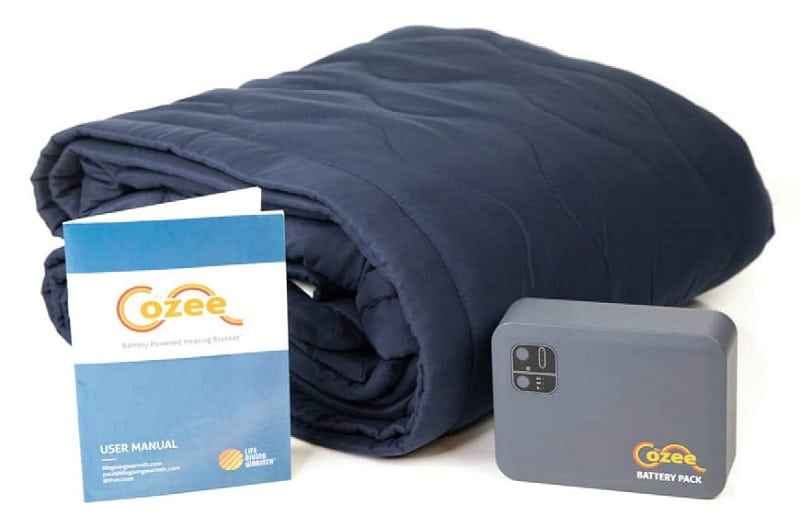 Battery Operated Heated Blanket Soft Fleece Throw