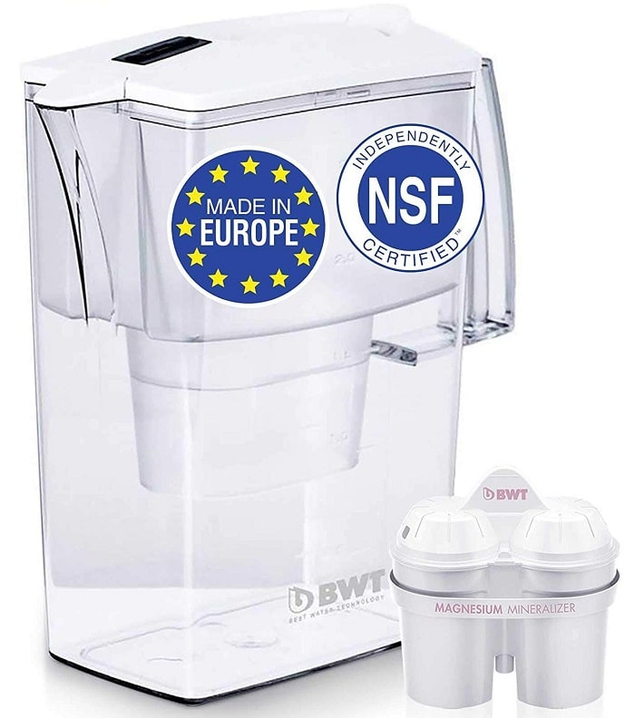 New upgraded BWT 5 cup water filter pitcher