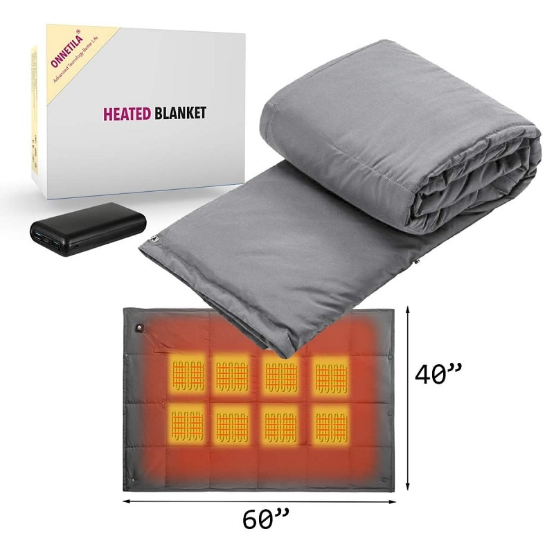 Onnetila Battery Powered Heated Electric Blanket