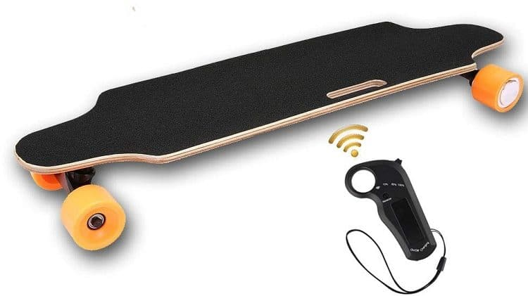OppsDecor electric skateboard with wireless remote