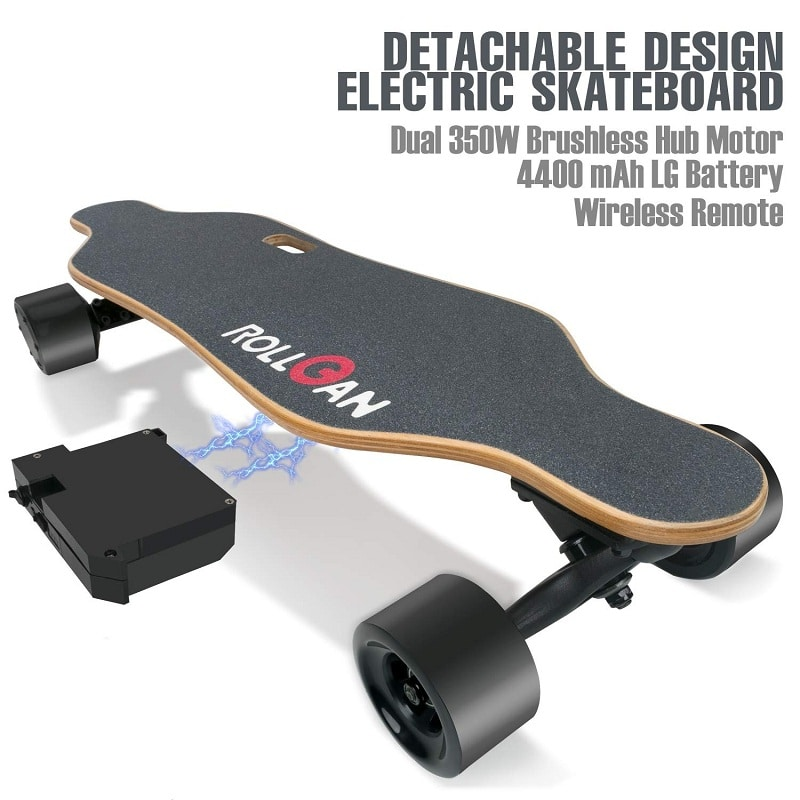 Rollgan Battery detachable electric skateboard