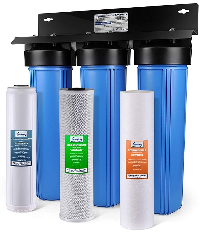 The iSpring WGB32B-PB 3 stage lead water filter