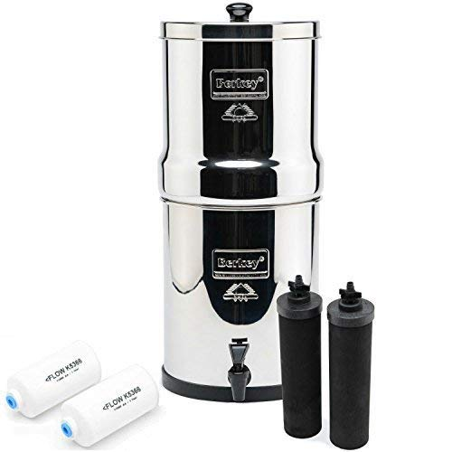 Travel Berkey fluoride water filter