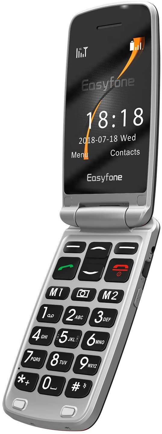 Easyfone Prime A1 3G Flip Cell Phone