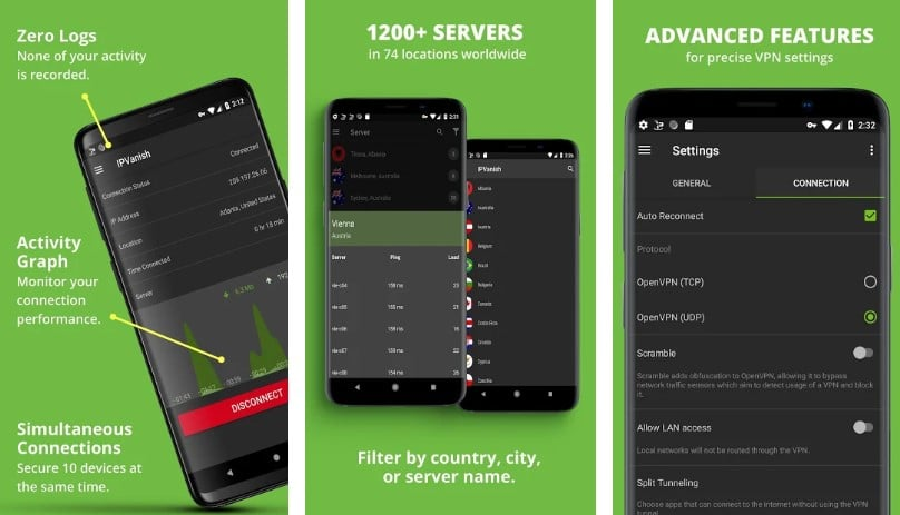 IPVanish Mobile app