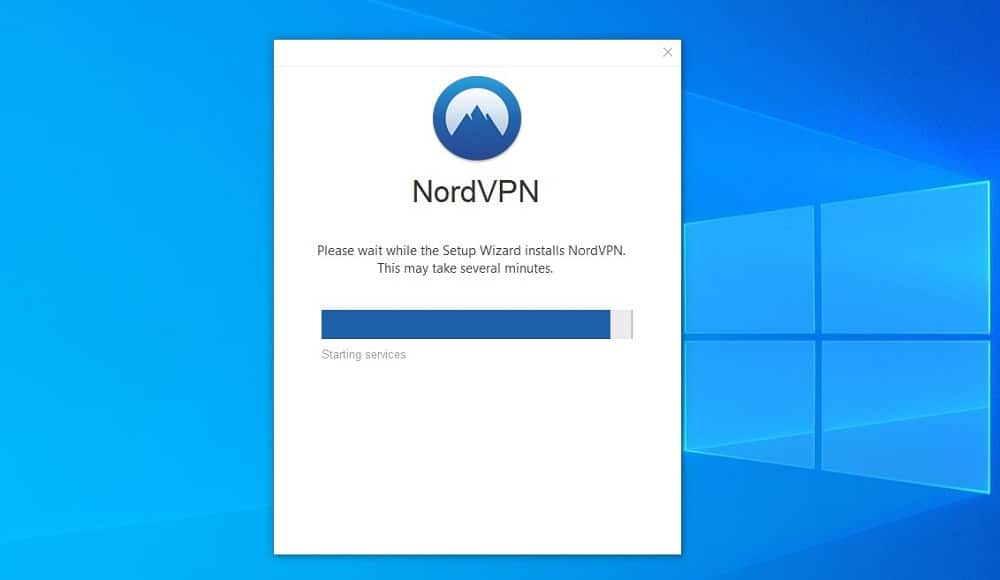 NordVPN during setup