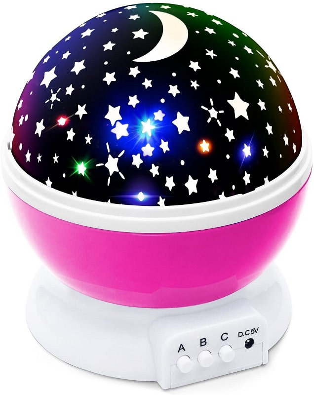 Lizber Baby Night Lighting Lamp Moon Star Projector