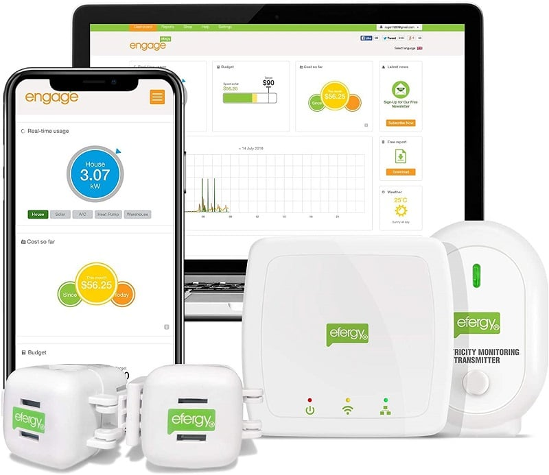 Efergy Engage Hub Kit Energy Monitor