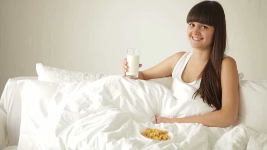 Milk while bed