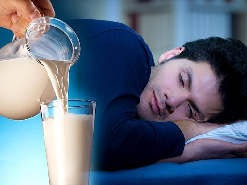 Quality Sleep with drink milk