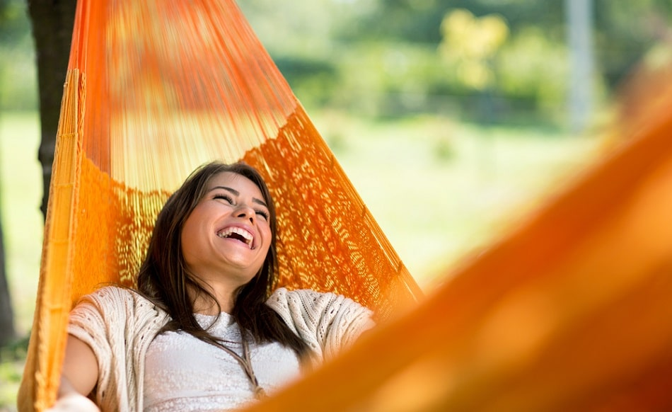 Stress Levels reuction with hammock