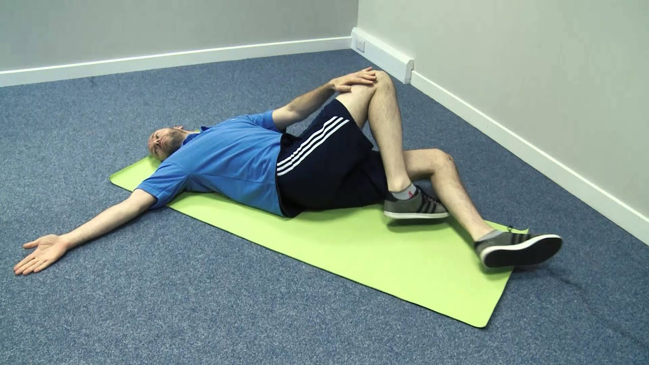 Lower back rotational stretches