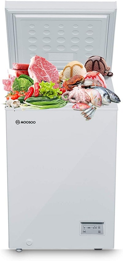 MOOSOO Chest Freezer 3.5 Cubic Feet