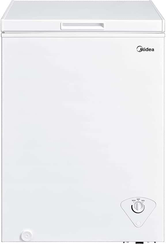 Midea MRC04M3AWW Single Door Chest Freezer