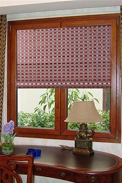 The Asian home bamboo window blind