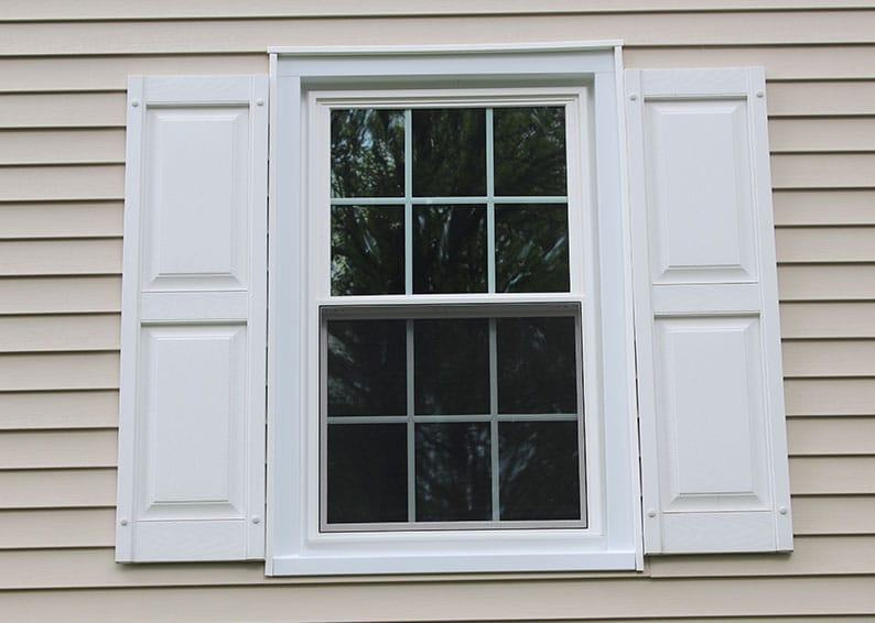White Modern Window Trim