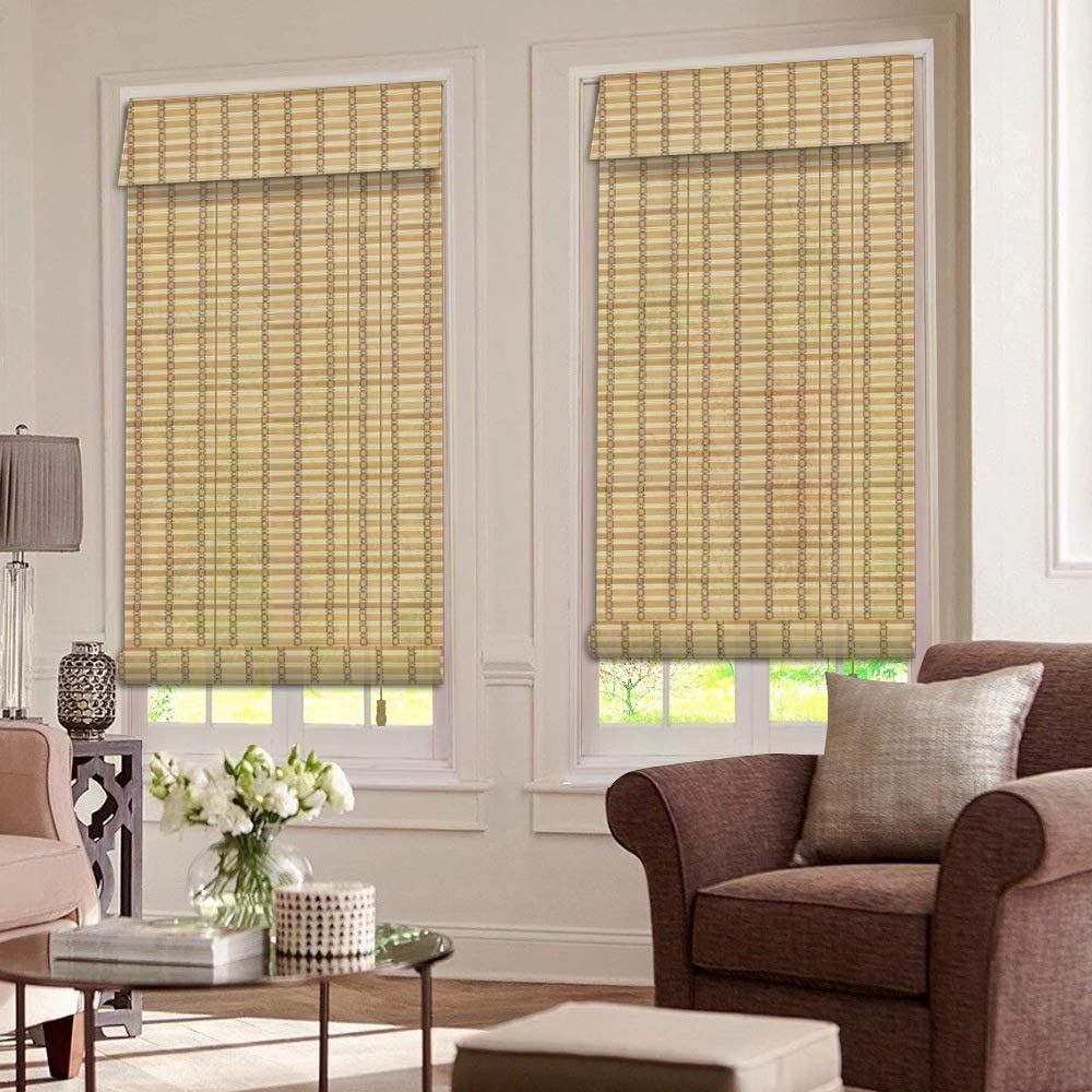 ZY Blinds Bamboo Roman Window Blinds
