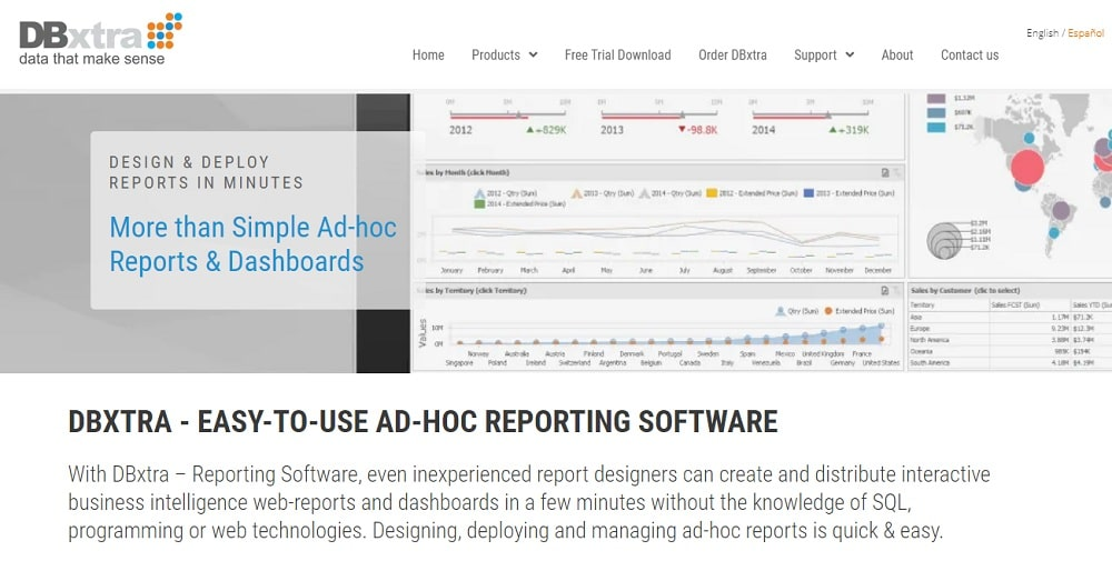 DBxtra - AD-HOC REPORTING SOFTWARE