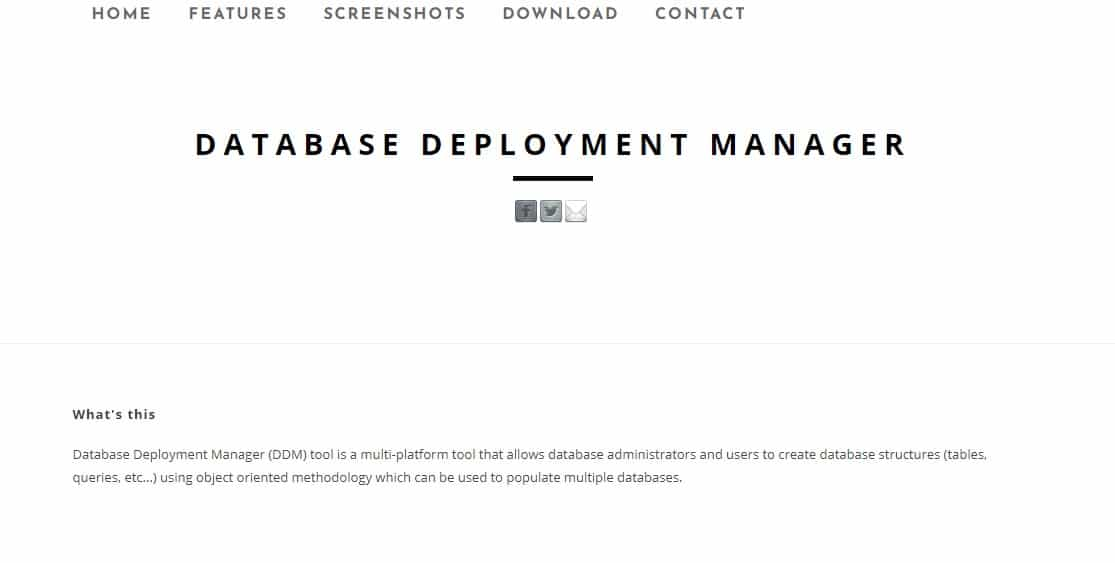 Database Deployment Manager