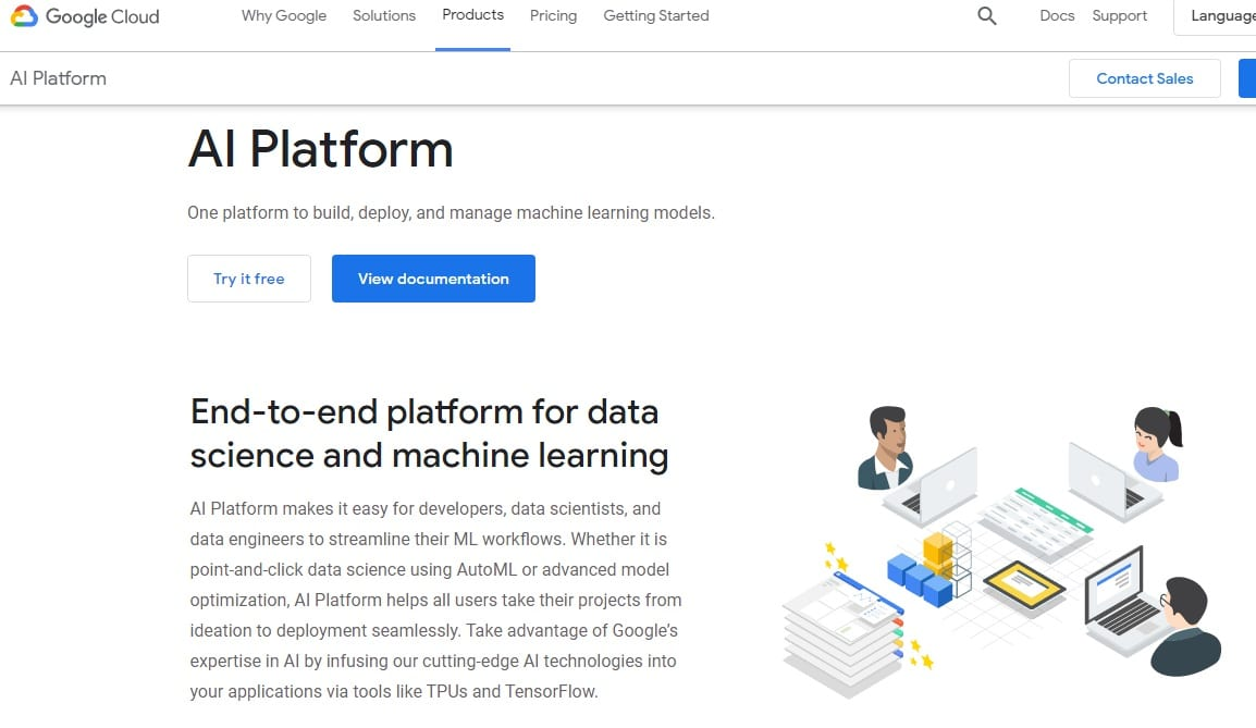 Google Cloud AutoML Home Page