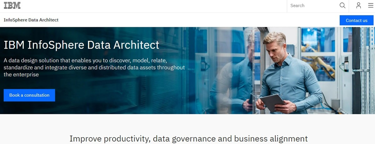 IBM InfoSphere Data Architect Home Image