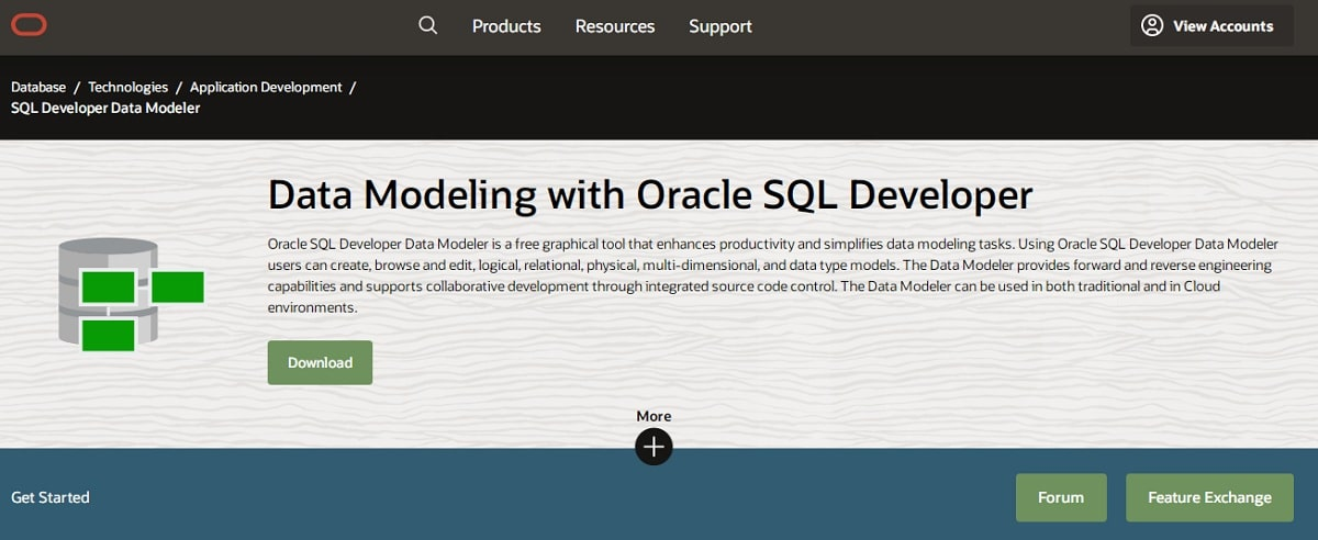 Oracle SQL Developer Data Modeler Image