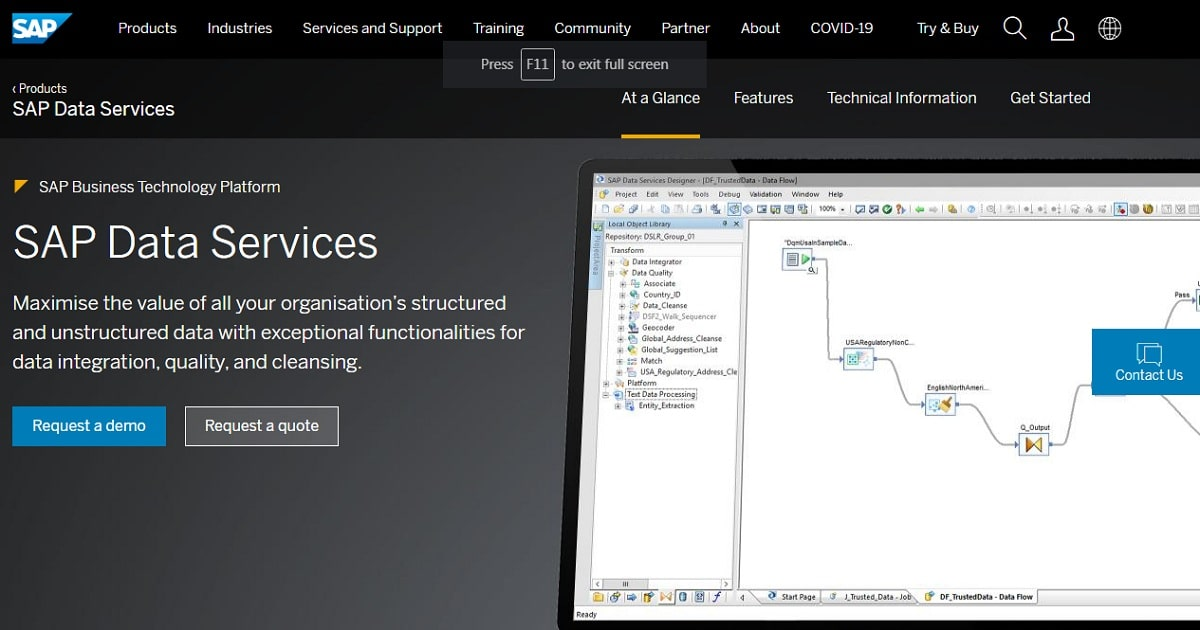 SAP – BusinessObjects Data Integrator