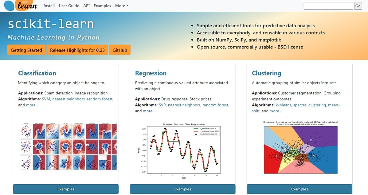 Scikit-Learn Home Page