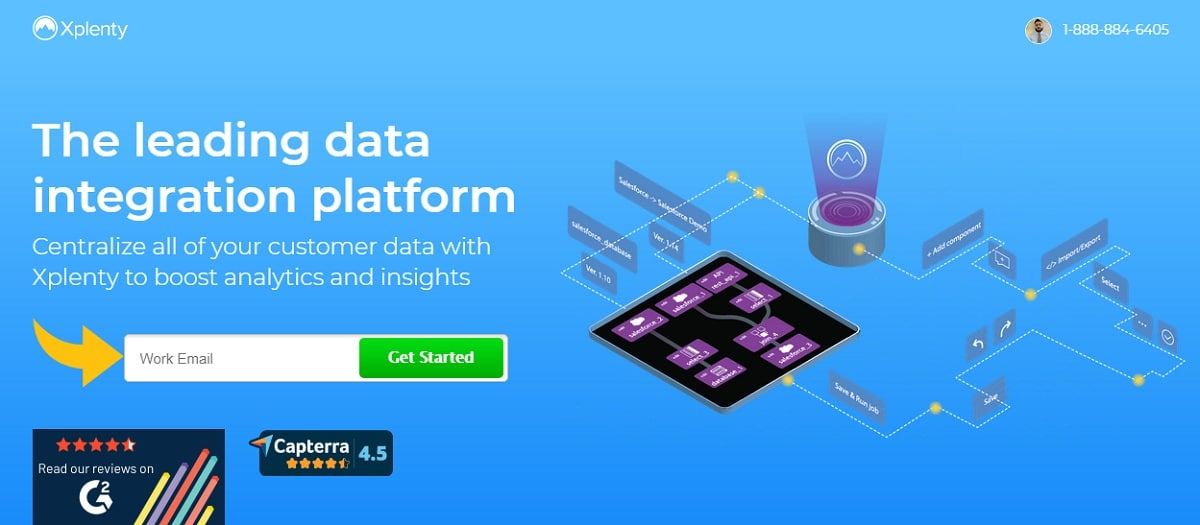 Xplenty Leading Data integration