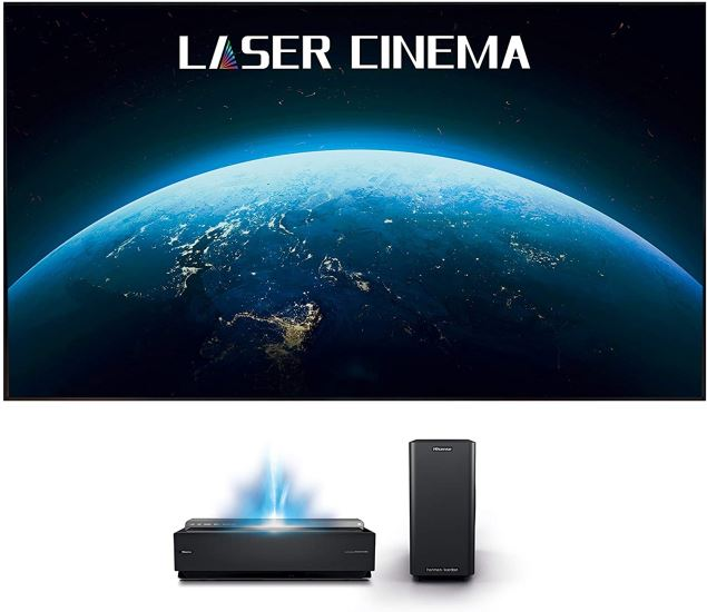 Hisense 100L10E Smart Ultra Short Throw 4K UHD HDR Home Theater TV Projector