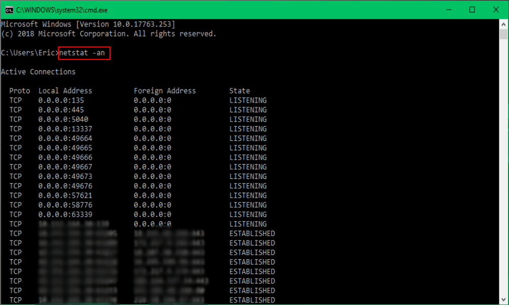 Finding IP Address Using the Command Line